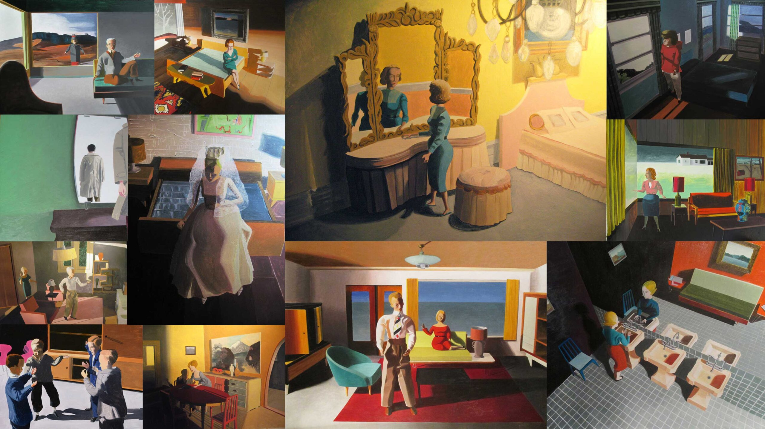 Collage of paintings by Kathy Osborn